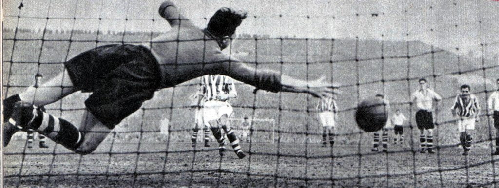 Vale keeper Ray King is beaten from the spot for Albion's winner