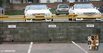 Directors parking spaces - Vale Park stadium