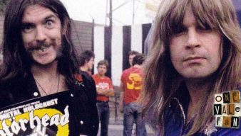 Lemmy and Ozzy Osbourne at Vale Park in 1981.