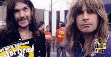 Lemmy and Ozzy Osbourne at the Vale Park stadium.