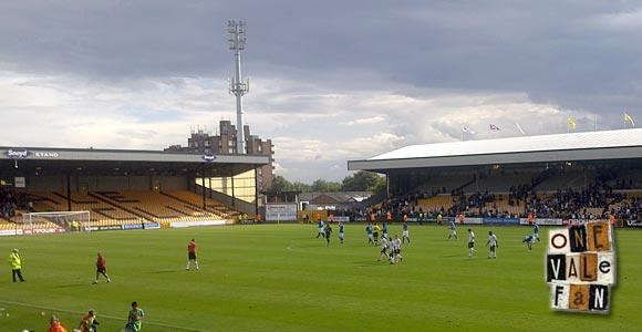 A shot of the Vale Park stadium
