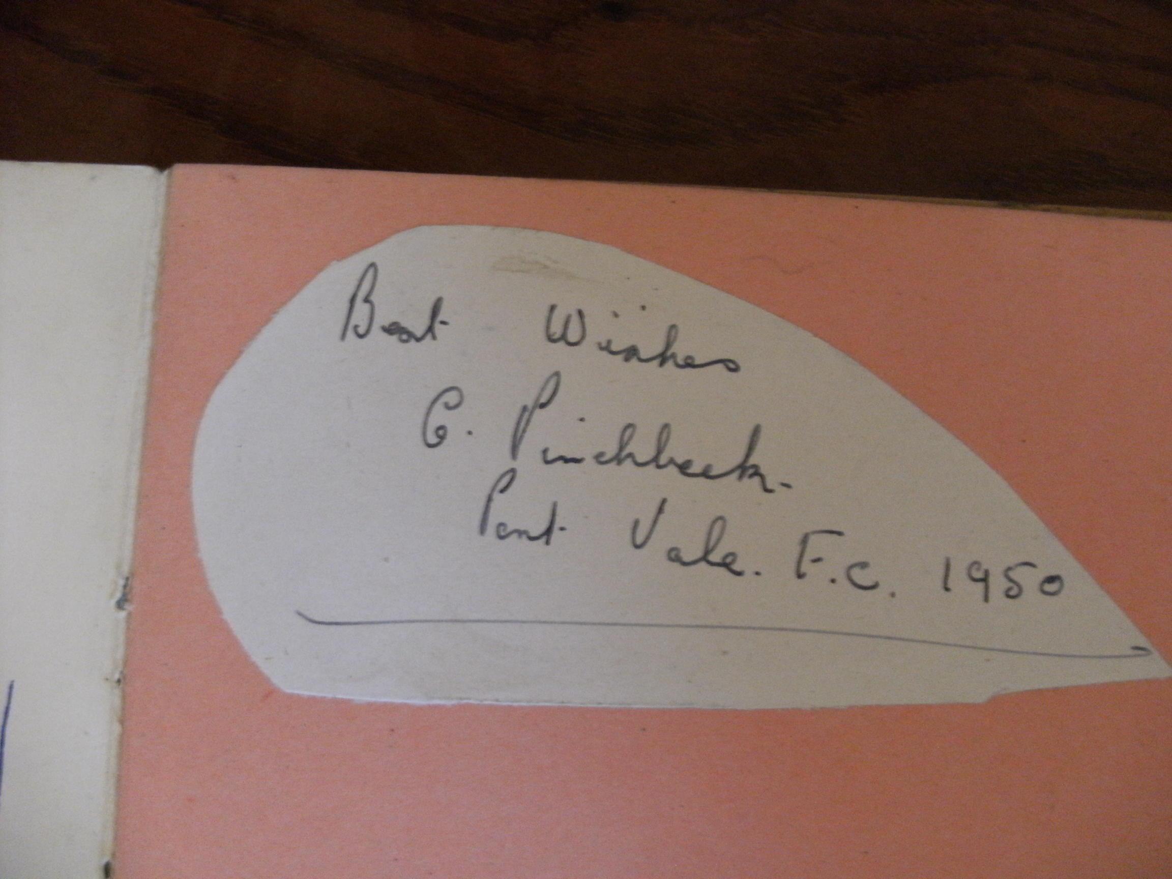 1950s Port Vale autographs