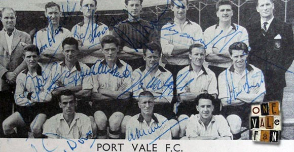 Pictured: 1950s Port Vale autographs