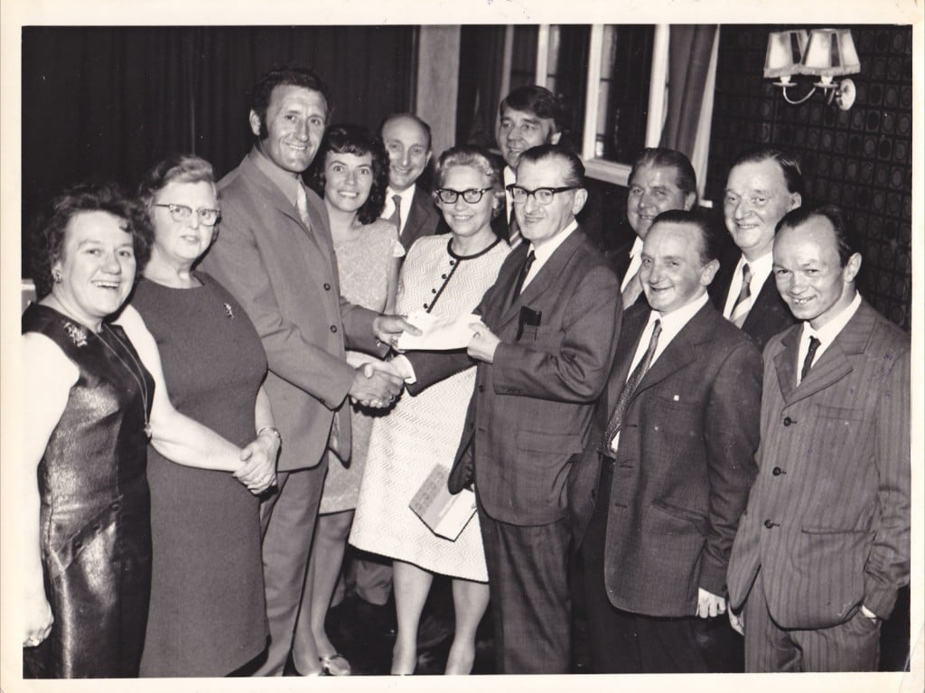 Roy Sproson receives an award