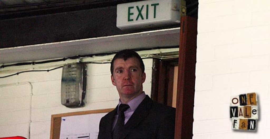 Port Vale manager Jim Gannon
