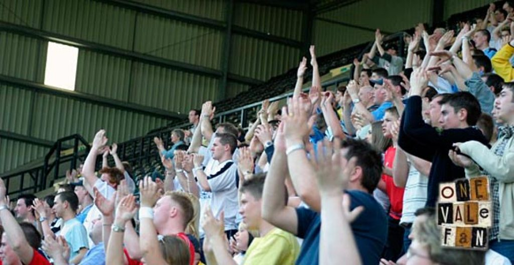 Port Vale fans applaud
