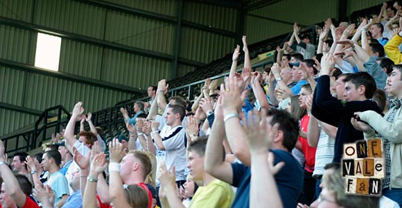 Port Vale fans applaud
