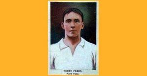 Goalkeeper Teddy Peers - cigarette card image