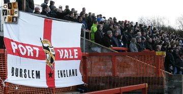 Port Vale fans at Accrington