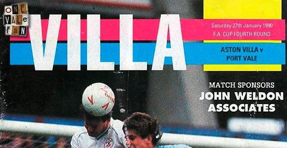 Aston Villa v Port Vale, 1990