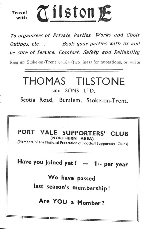 First Vale Park match programme - 14