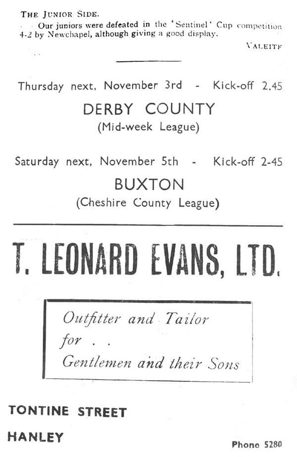First Vale Park match programme - 2