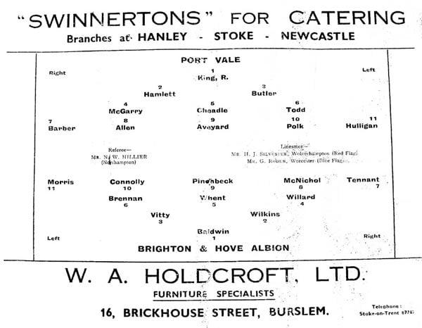 First Vale Park match programme - 8