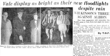 Vale display as bright as their new floodlights - press clipping