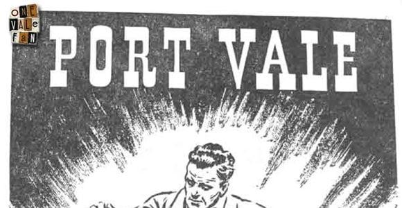 Port Vale v Stoke programme 1955
