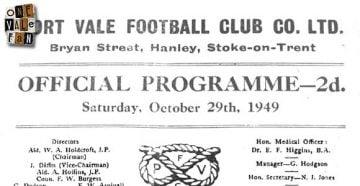 Port Vale v Brighton programme 1949