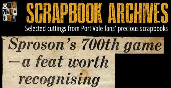 Scrapbook clippings - Sproson's 700th