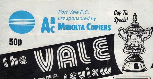 Port Vale v Watford 1988 matchday programme