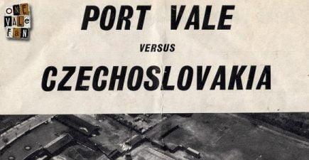 Port Vale v Czechoslovakia programme