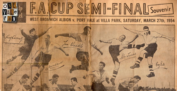 Front cover: Sentinel special to celebrate Port Vale's 1954 FA Cup semi-final