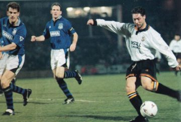 Tony Naylor in action against Everton