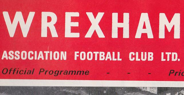 Wrexham v Port Vale programme, 1969