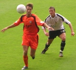 Ryan Brown in action against Colchester