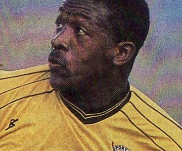Port Vale striker Darren Beckford