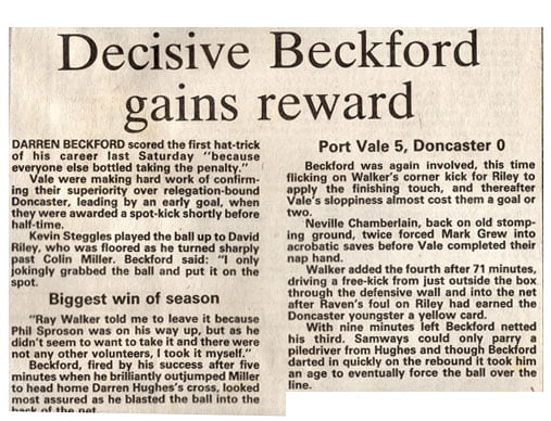 Darren Beckford press clipping