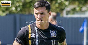 Port Vale forward Louis Dodds