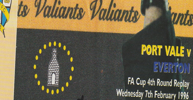 Port Vale v Everton matchday programme, FA Cup 4th round replay 1996