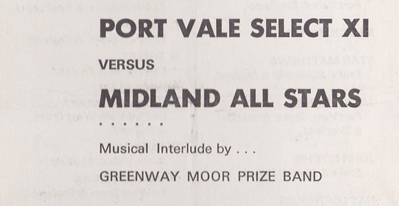 Port Vale XI v Midlands All-Stars, 1968