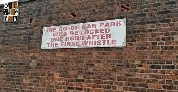 Port Vale FC car park sign