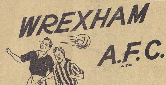 Wrexham v Port Vale programme 1952