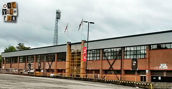 The exterior of the Lorne Street stand, Vale Park stadium