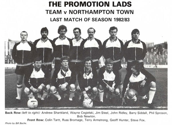 Jim Steel in the 1983 promotion side