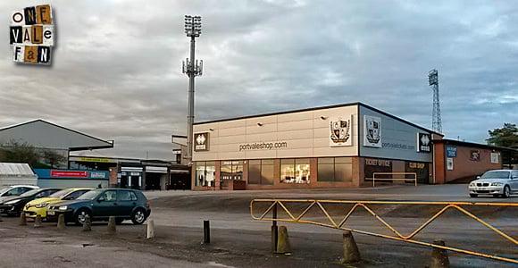 A view of the Port Vale shop, Vale Park stadium