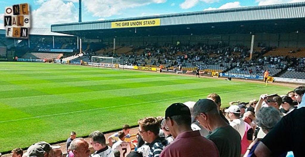 Port Vale fans at Vale Park stadium