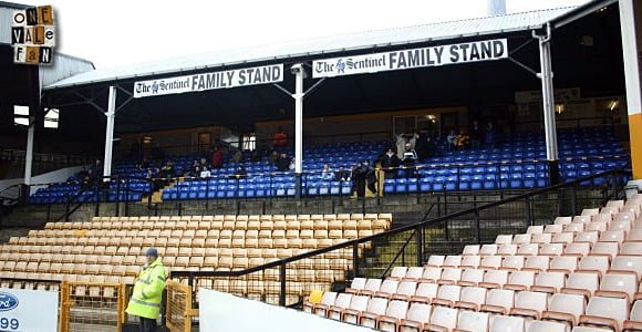 The family stand, Vale Park stadium