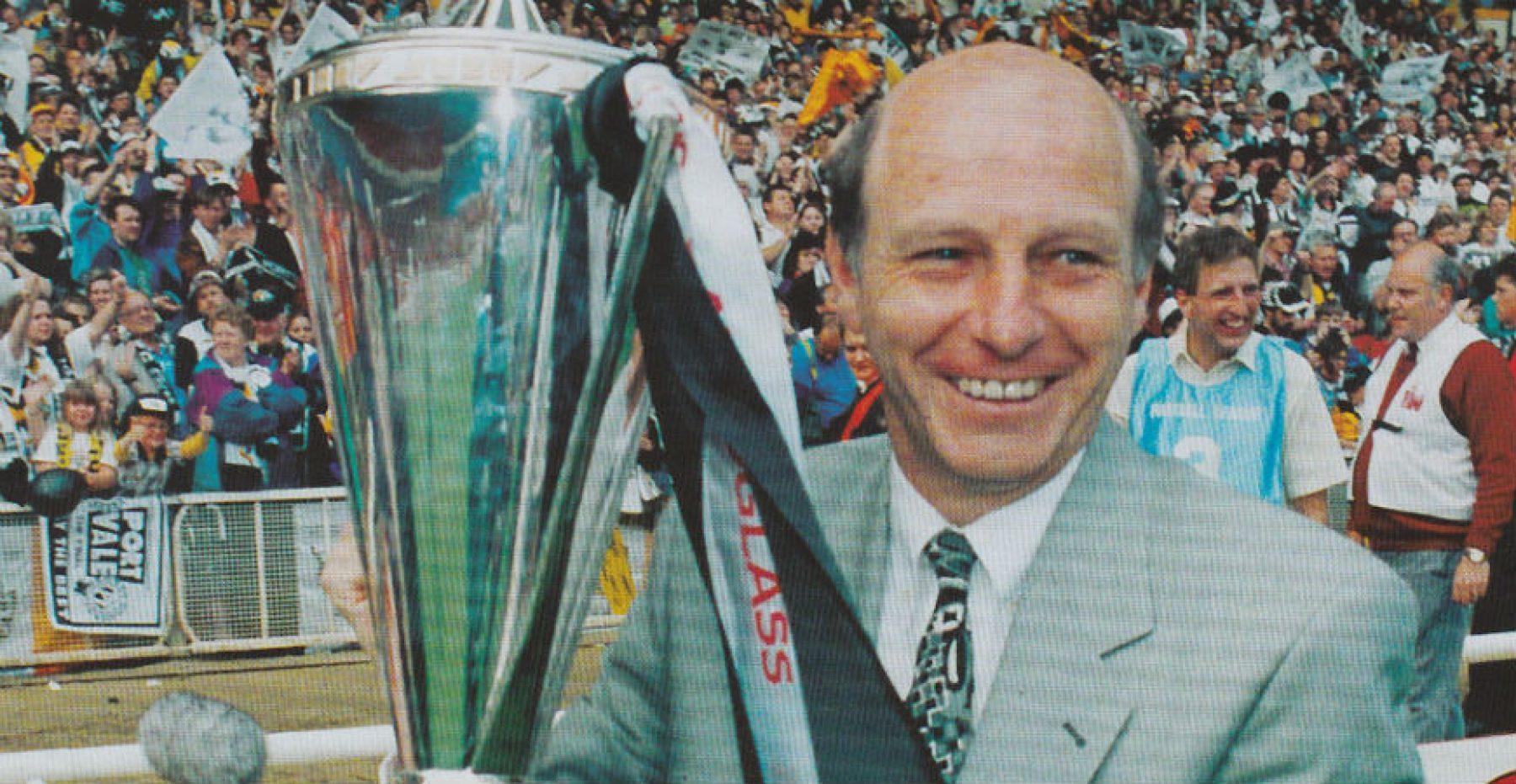 Port Vale manager John Rudge at Wembley