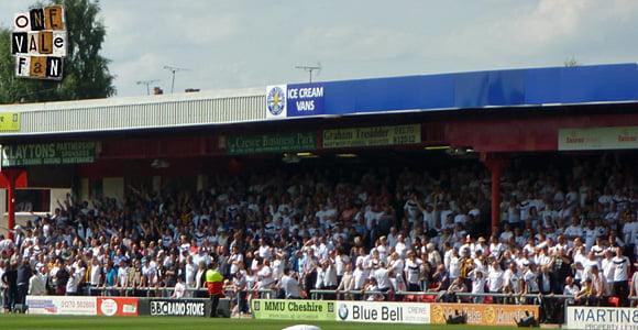 Port Vale fans at Crewe Alexandra