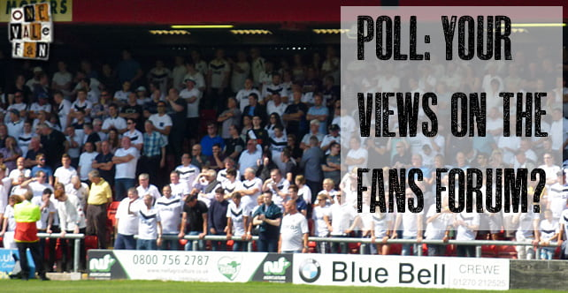 Poll: Your views on the Fans Forum