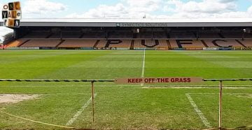 Keep off the pitch sign - Vale Park stadium
