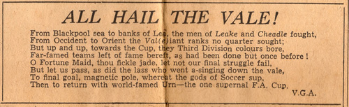 FA Cup semi-final special in the Sentinel - All hail the Vale - press clipping
