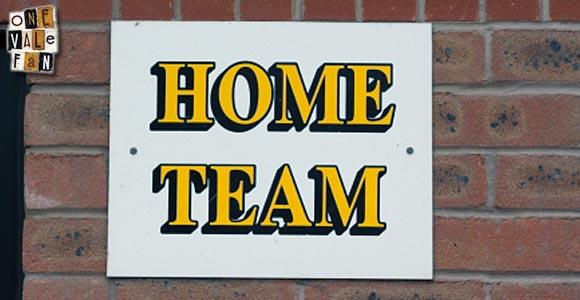Home Team sign, Vale Park stadium