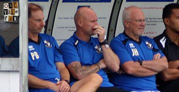 The Port Vale bench 2016