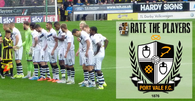 Rate the players: Gillingham 0-2 Port Vale
