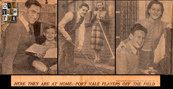 FA Cup semi-final special in the Sentinel - Port Vale players off the field - press clipping