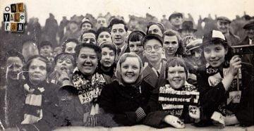Vintage photo of Port Vale fans