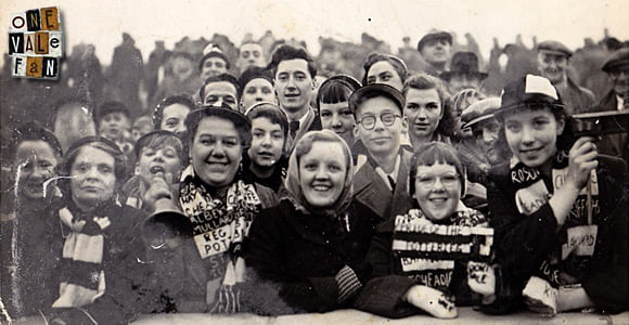 On the Vale Park terraces in the 1950's
